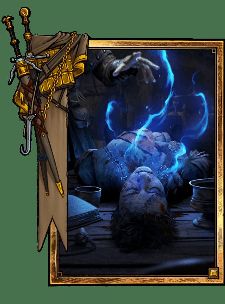 una delle carte del gioco di Gwent