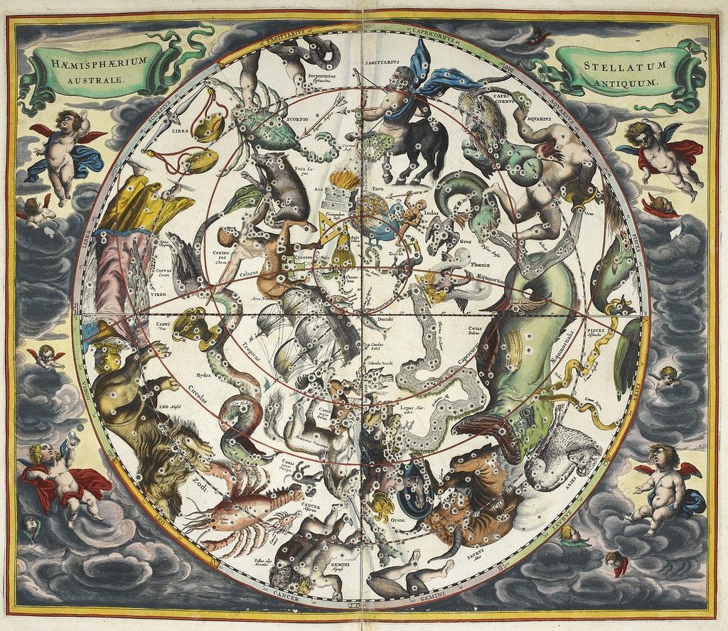 La mappa astrologica di Andres Cellarius