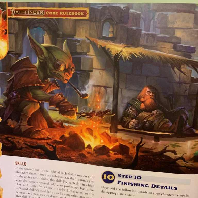 Immagine dal Core Rulebook di Pathfinder Seconda Edizione, in cui vediamo un PG Goblin. Fonte
