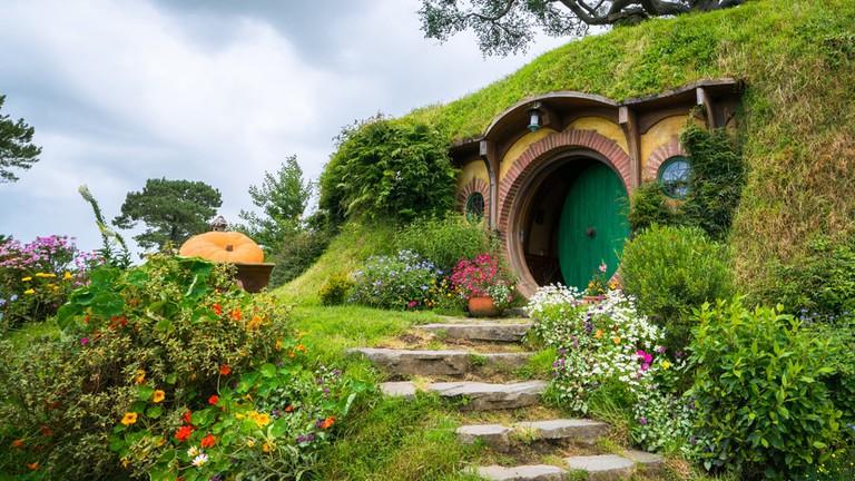 Una casa hobbit di Tolkien