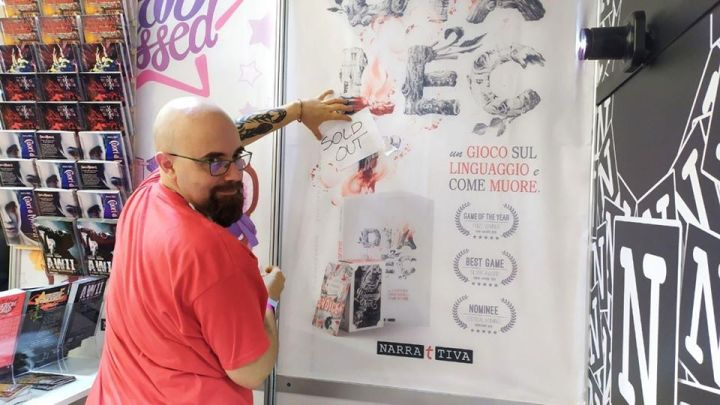 Uno sfinito, ma contento Michele Gelli che annuncia il sold-out di Dialect al Lucca Comics & Games 2019