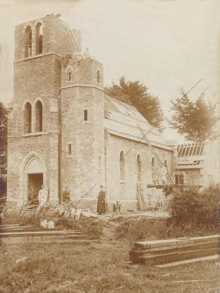 Bougnimont - Eglise - Ancienne photo construction - Collection Christian Giboux