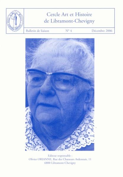 Bulletin de liaison n°4 – Décembre 2006