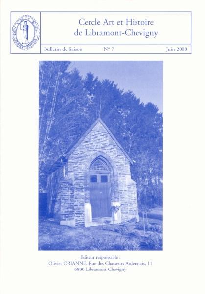 Bulletin de liaison n°7 – Juin 2008