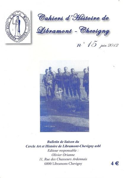 Cahier d'histoire de Libramont n°15 -Juin 2012