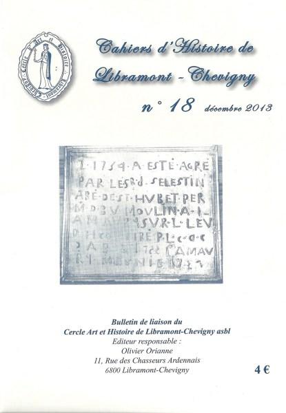 Cahier d'histoire de Libramont n°18 -Décembre 2013