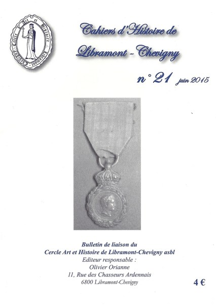 Cahier d'histoire de Libramont n°21 -Juin 2015