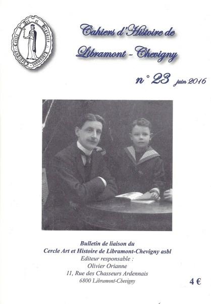 Cahier d'histoire de Libramont n°23 -Juin 2016