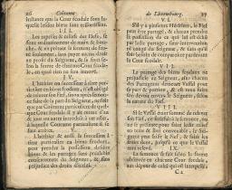 Coutumes Générales des Pays Duché de Luxembourg pages 26 - 27