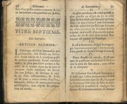 Coutumes Générales des Pays Duché de Luxembourg pages 56 - 57