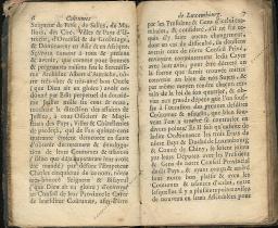Coutumes Générales des Pays Duché de Luxembourg pages 6 - 7