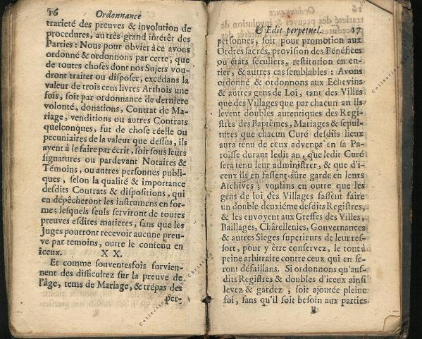 Ordonnance et Edit perpétuel des Archiducs pages 16 - 17