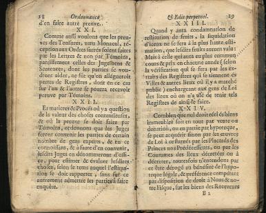 Ordonnance et Edit perpétuel des Archiducs pages 18 - 19