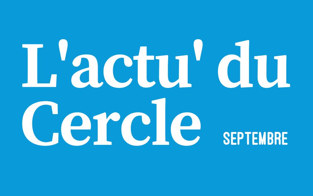 La lettre d'actu – Septembre