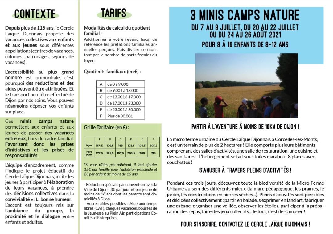 Mini Camps Nature - Séjour jeune
