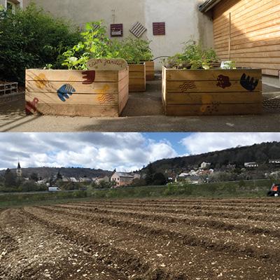 Jardinage collectif 44 rue de Tivoli et Micro Ferme Urbaine de Corcelles-les-monts
