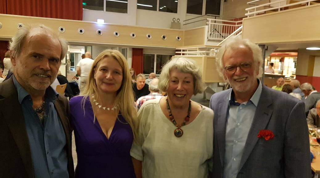 Aachener Friedenspreis 2019: Mat engem gudde Kolleg em Dietmar Mirkes (Klimabündnis Lëtzebuerg), mais virun allem de Präisträgerinnen Elke Koller an Marion Küpker.