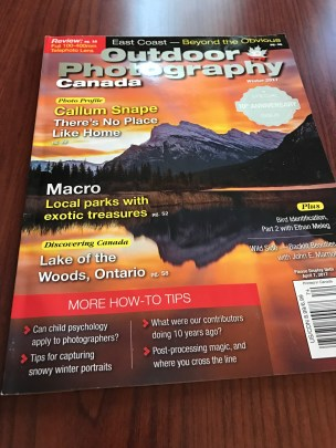 This was on the coffee table in the cottage. Great article by local photographer Mel Diotte