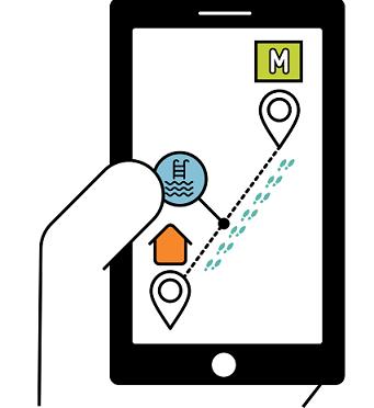 Application smartphone itinéraire