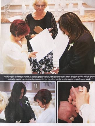 Ozzy & Sharon vow renewal picture