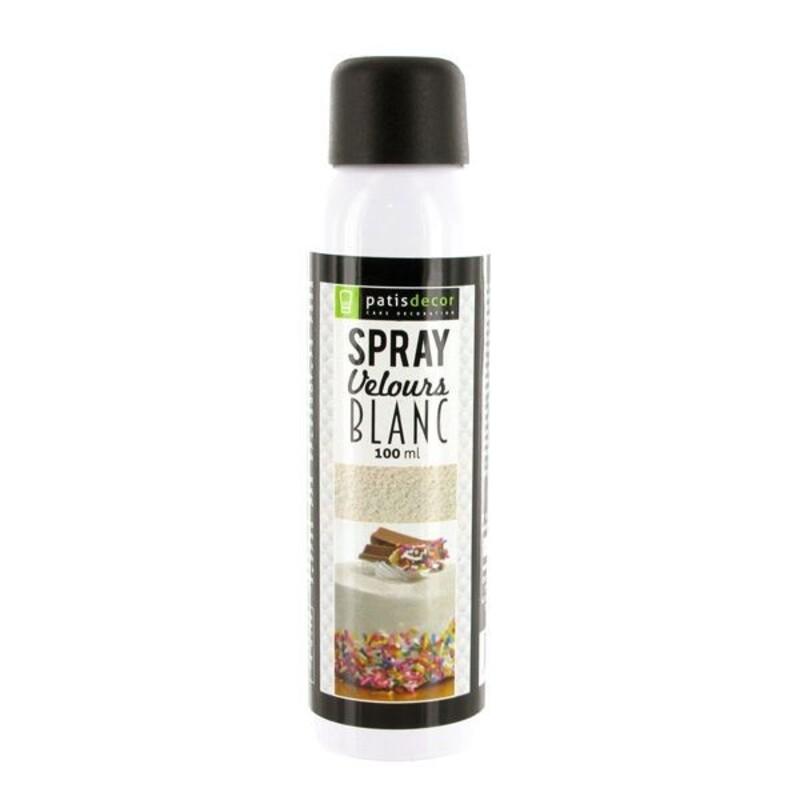 spray velours alimentaire blanc patisdecor 100 ml cerf dellier
