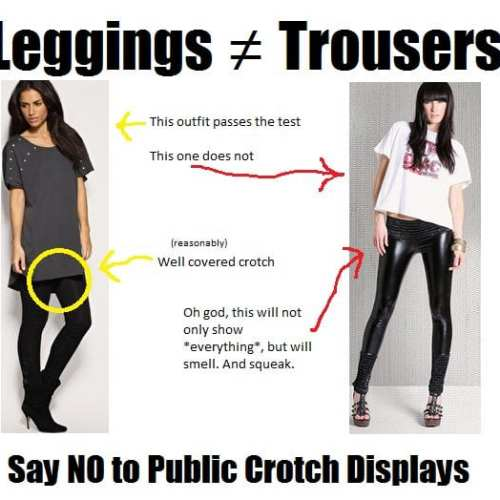 PSA: Leggings Are Not Trousers