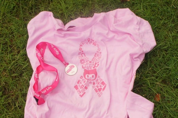Race for Life medal with Github t-shirt