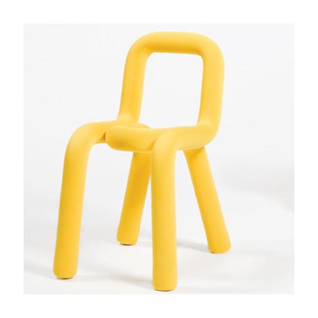 chaise design bold moustache jaune