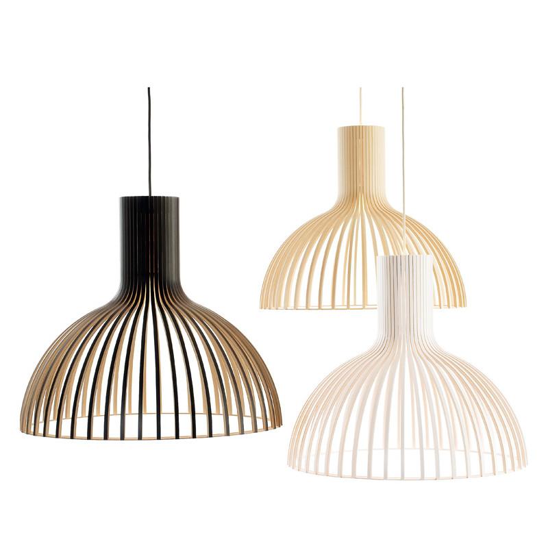 lustre victo 4250 secto design bois naturel