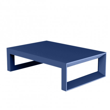 table basse frame 120 cm vondom bleu laque
