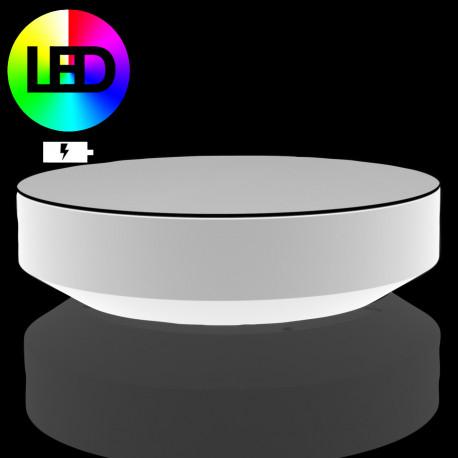 table basse ronde vela led rgb a batterie vondom diametre 120xh30 cm