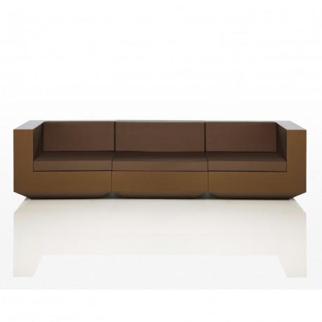 canape modulable vela vondom bronze longueur 3 m