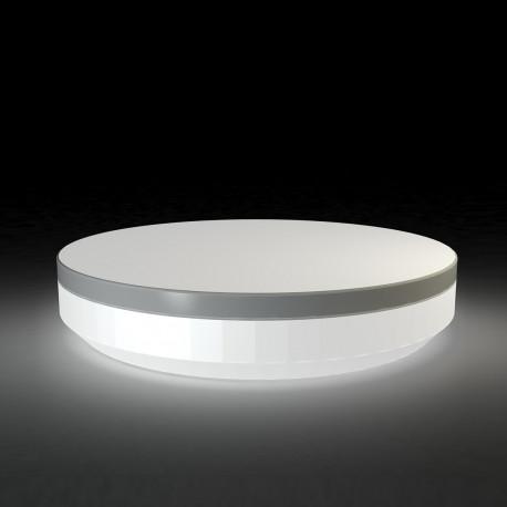 lit de jardin rond design vela daybed vondom lumineux led blanc