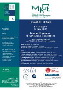 2016.10.06. Femmes dirigeantes - Programme