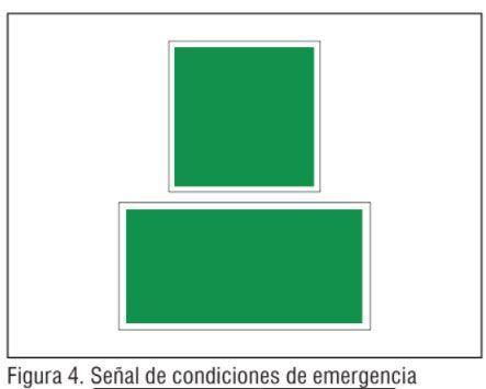 Señal de condiciones de emergencia