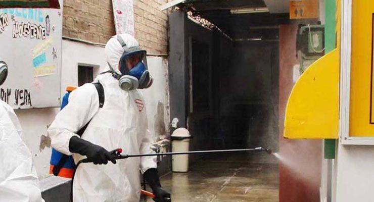 conveniente el rociamiento de desinfectantes