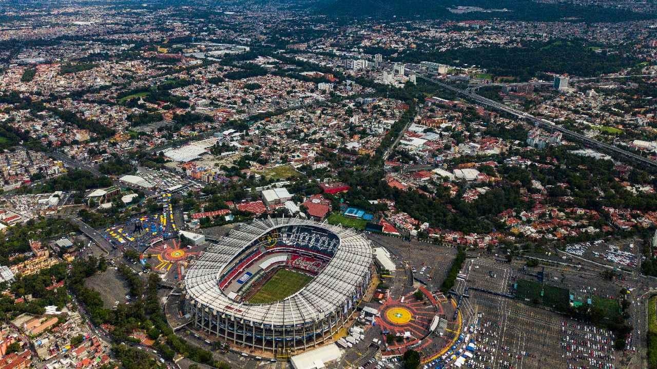 Así se ve el Estadio Azteca y las colonias aledañas desde las alturas