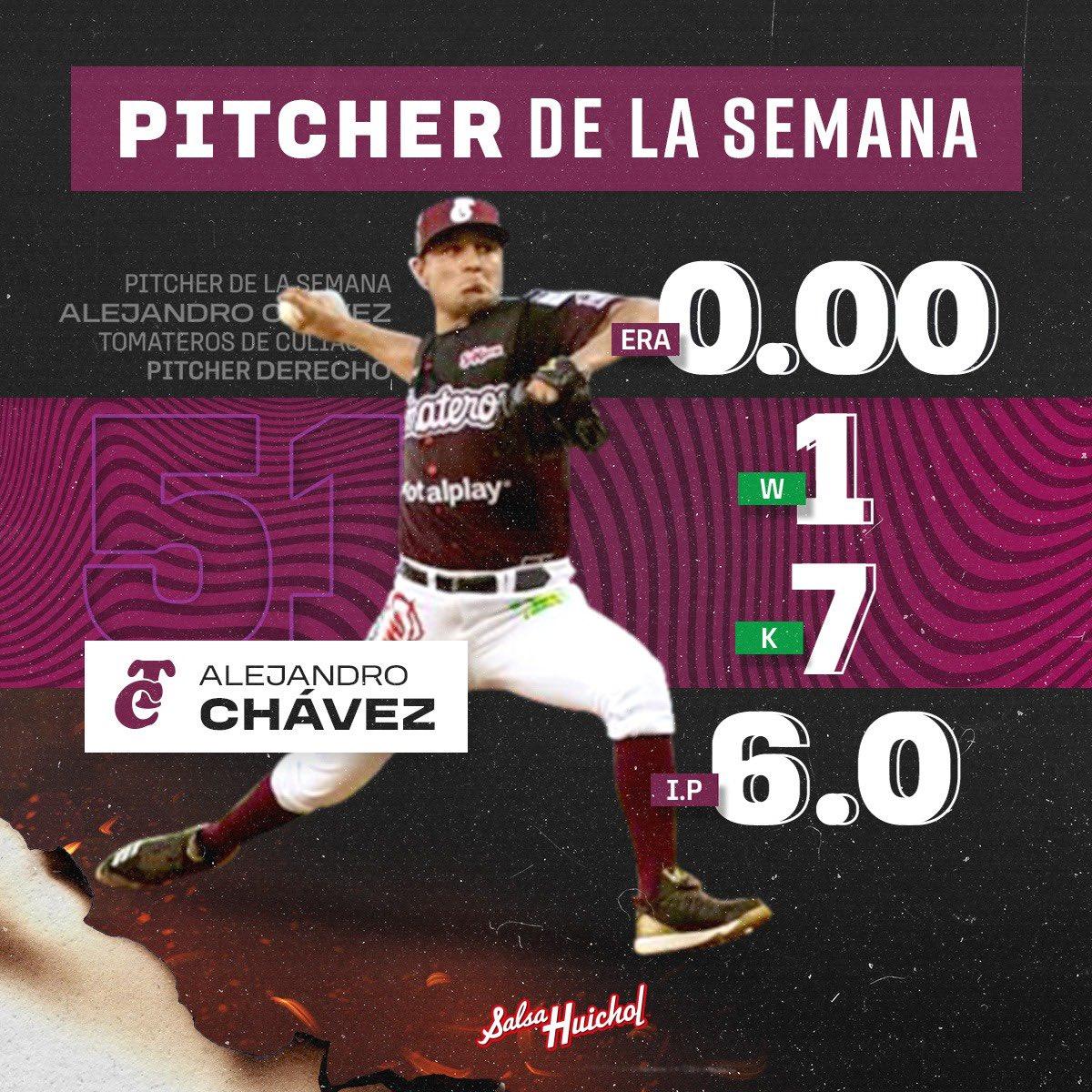 Alejandro Chávez pitcher de la semana