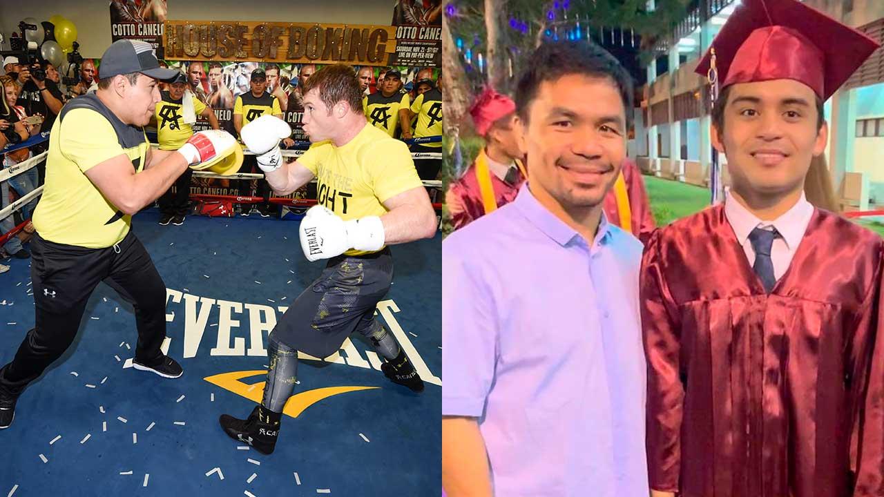 Hijo de Manny Pacquiao entrena con El Canelo Álvarez y Eddy Reynoso