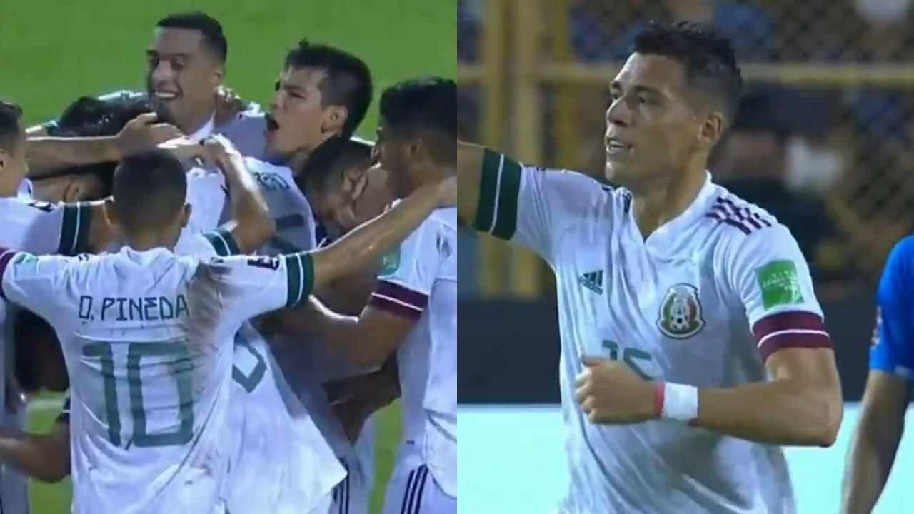 Selección Mexicana_ Héctor Moreno marca el primer gol ante El Salvador