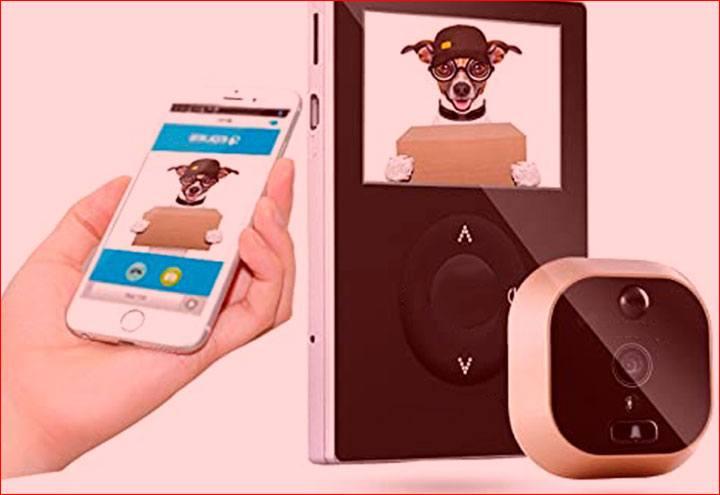 Mirilla digital wifi electronica