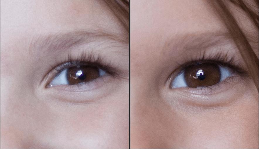 100 % Comparison at f1.4 Canon (left), Sigma (right