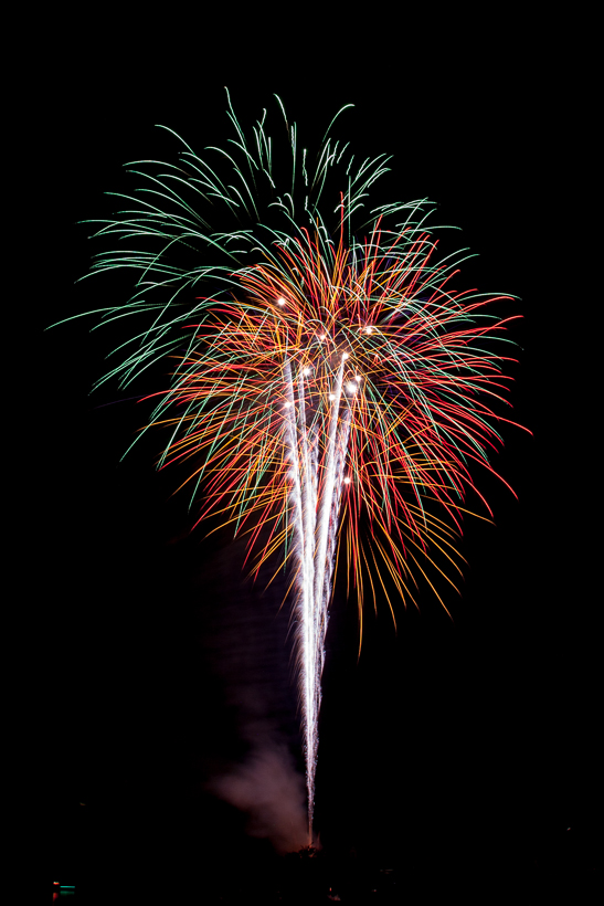 Bouquet burst from Winter Garden's Fireworks at Lake Apopka
