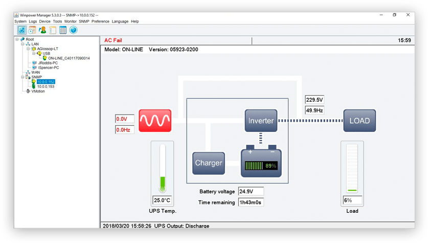 UPS Software example