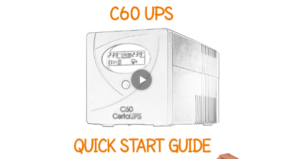 C60 UPS System Quick Start Guide