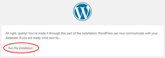 Step 10 Run the WordPress Installation