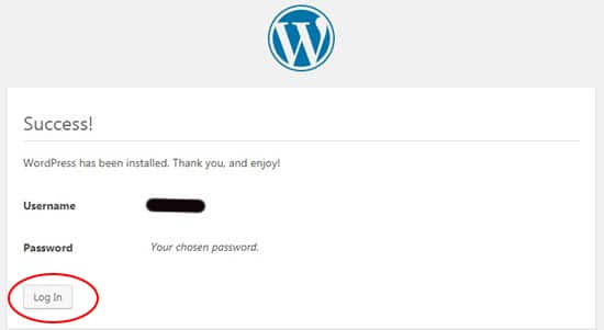 Step 12 WordPress Installation Complete