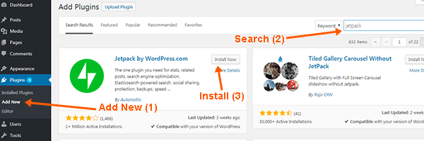 Search and Install WordPress Plugin