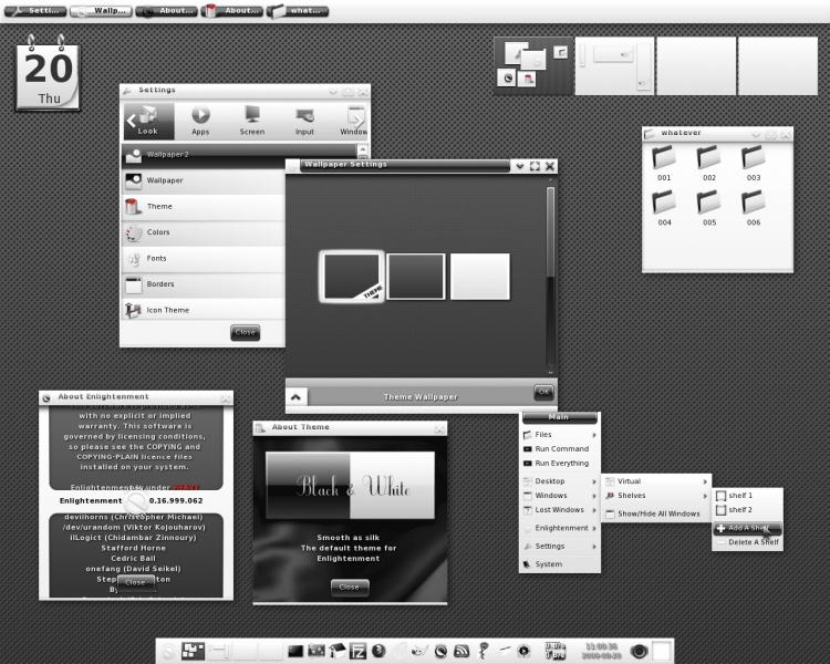 E17_bw_screenshot O que as distribuições Linux tem em comum?