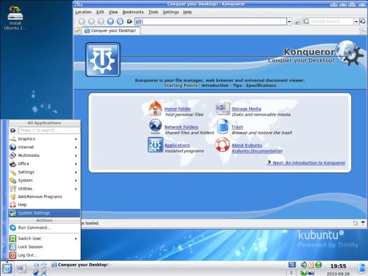 Screenshot_of_Trinity_3.5.12 O que as distribuições Linux tem em comum?